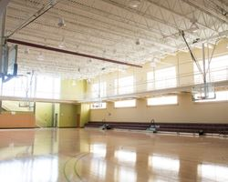 the basketball court at the palmer park gym
