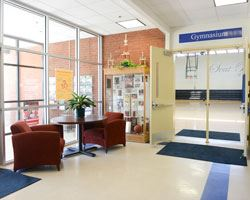 lobby of the seat pleasant community center on a sunny day