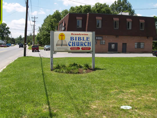 Brandywine Bible Church sign